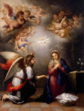 The Annunciation, by Murillo [Public Domain], via Wikimedia Commons
