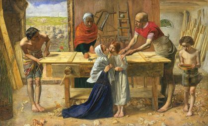 The Carpenter's Shop, by Everett Millais [Public domain], via Wikimedia Commons