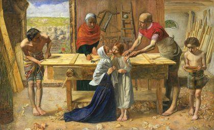 The Carpenter's Shop, by Everett Millais [Public domain], via Wikimedia Commons